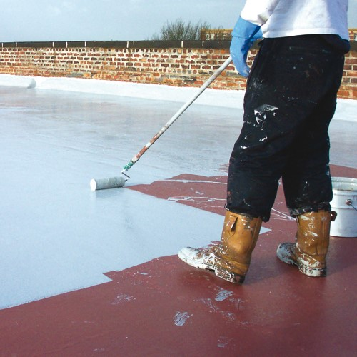liquid roof coating application