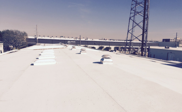 commercial roof in the summer heat